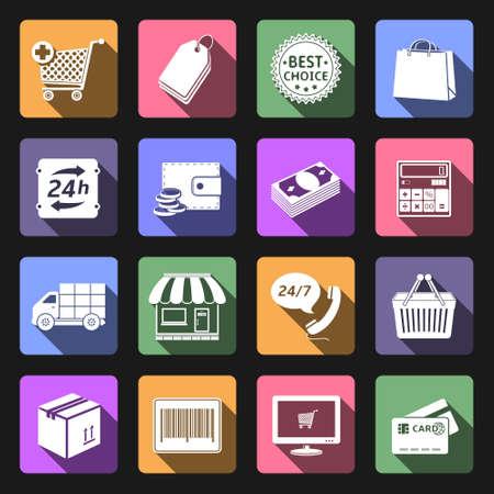 ショッピング フラット アイコン