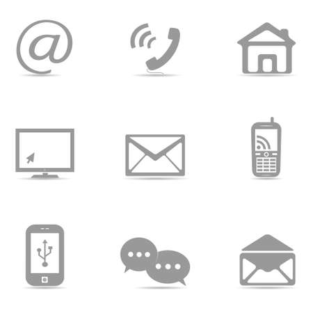 web icons: Contact icons