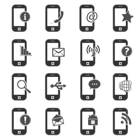 icons for mobile phone Vector