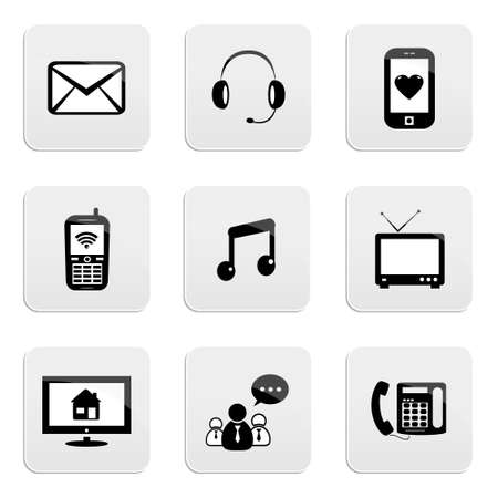 Contact & communication icons Vector