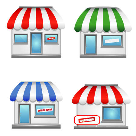 awnings: Shop icons with awnings