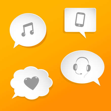 speech bubbles with web signs Illustration