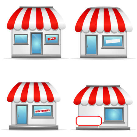 Storefront Icons Vector
