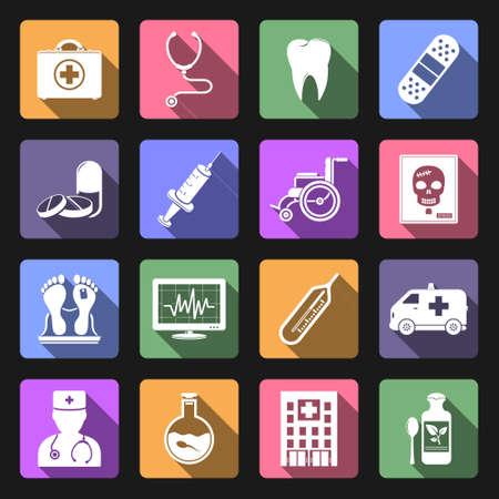 spermatozoon: Medical icons, flat design vector