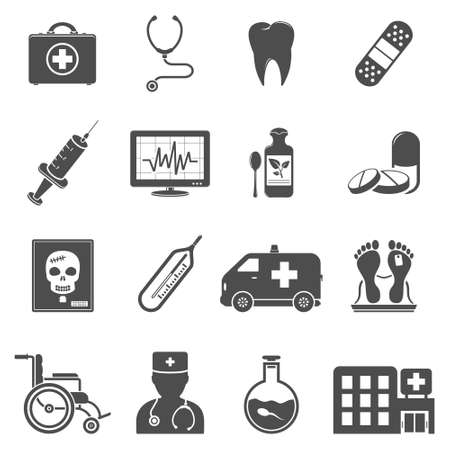 first teeth: Vector medical icons Illustration