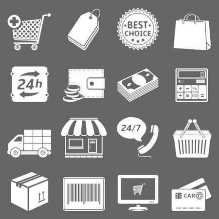 Shopping icons set Illusztráció