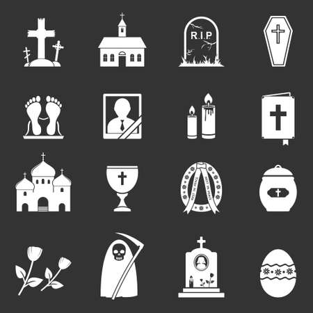 corpse flower: Vector Funeral Icons