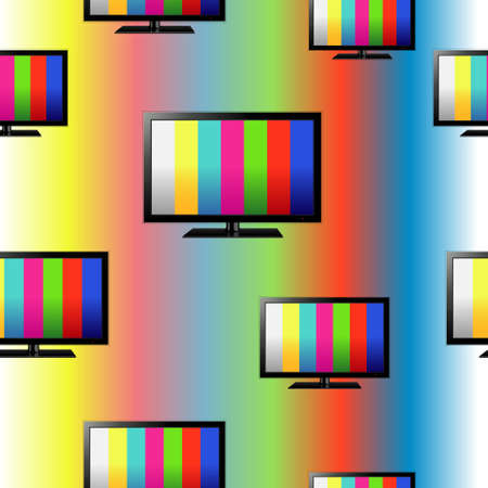 Tv seamless pattern, colorful no signal background Illustration