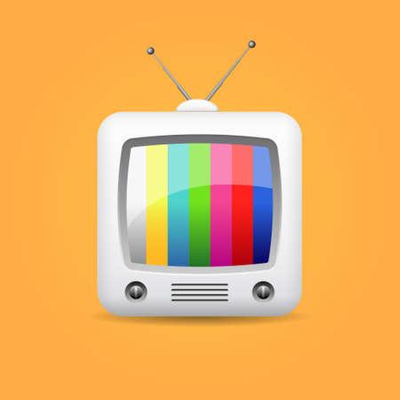 レトロなテレビ、ベクトルのアイコン  イラスト・ベクター素材