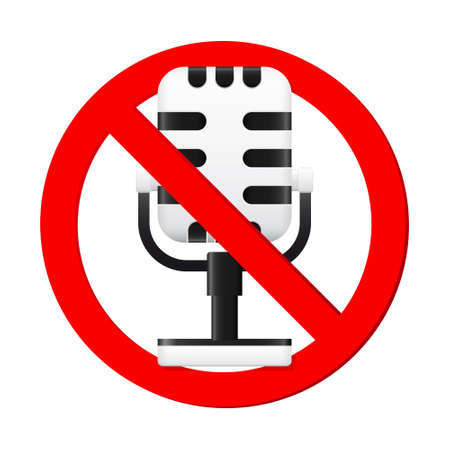 No Microphone Sign Vector