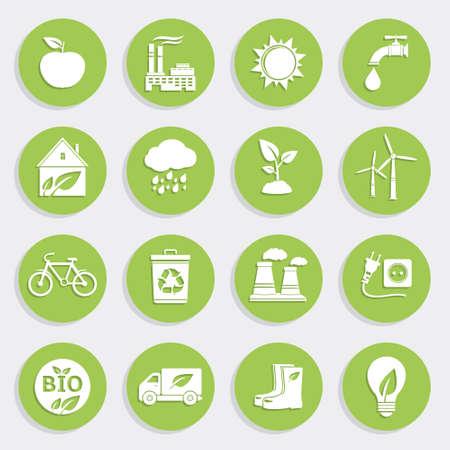 scrapyard: Set of Green Ecology Flat Icons