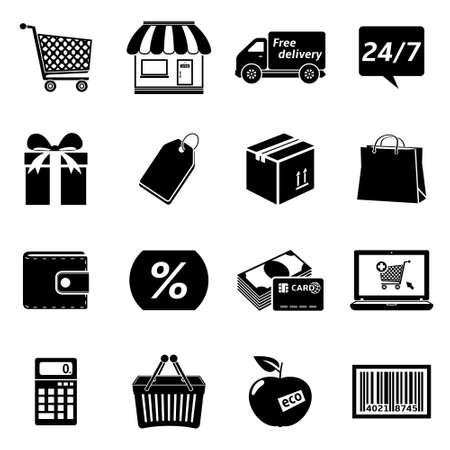 Shopping Icon Set Stock fotó - 29838769