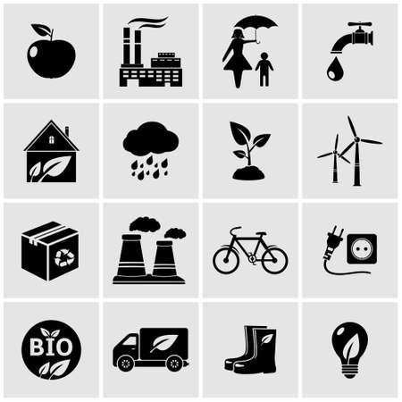 ECO icons set Vector
