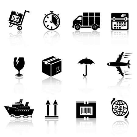 Icônes logistique Banque d'images - 30627748