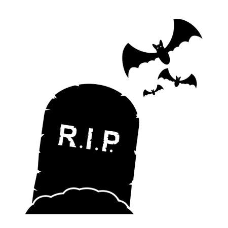 Gravestone icon Stock Illustratie