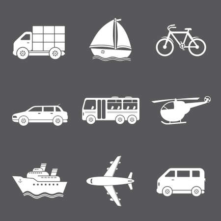 iconos de transporte: Vector iconos de transporte Vectores