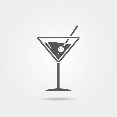 toothpick: Martini Icon Illustration