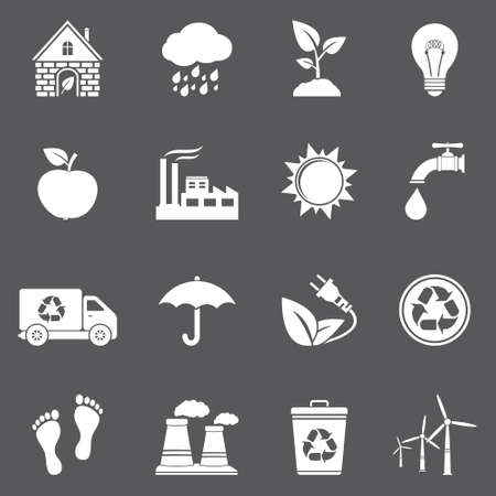 Vector ecology and recycle icons Vector