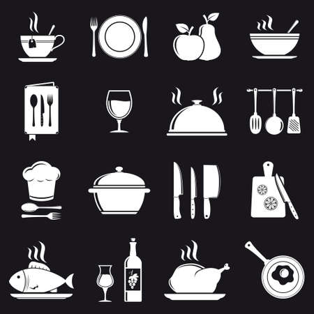 Cooking icons Stock Illustratie