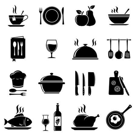 Vector kitchen icons 일러스트