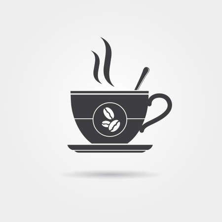coffee: Coffee cup icon, vector