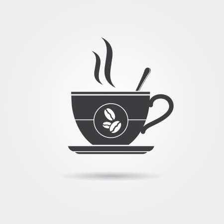 tazas de cafe: Icono de la taza de café, vector Vectores