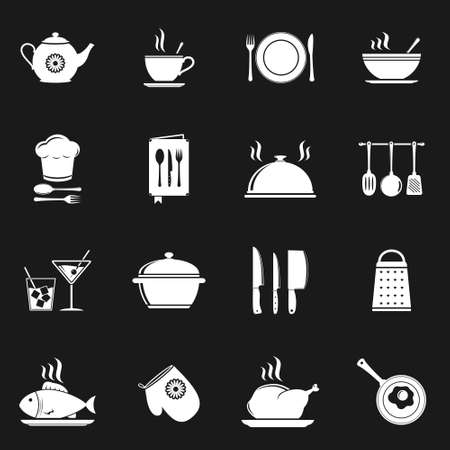 Food & Kitchen Icons Vector