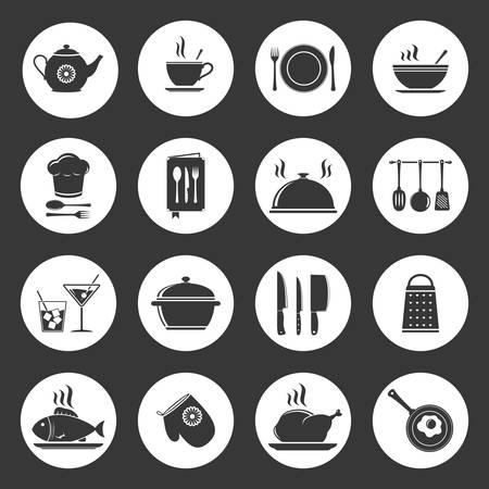 Cooking & kitchen icon set Vector