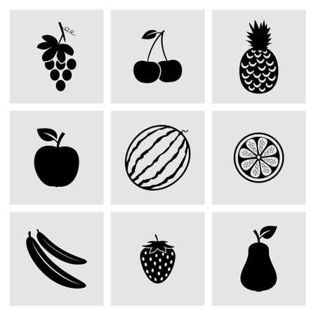 grape: Fruit icons Illustration