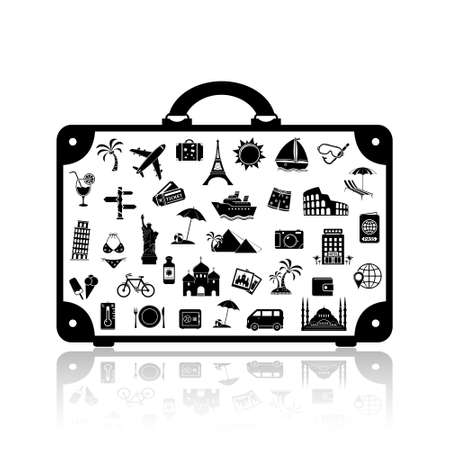 ベクトル旅行スーツケース
