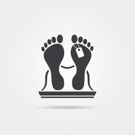 Dead body icon 向量圖像