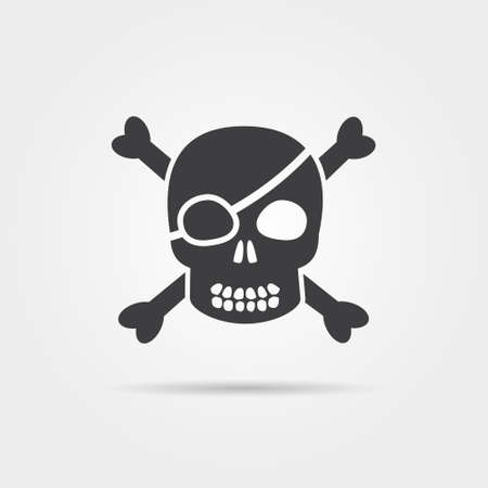 Pirate Skull Icons Vector