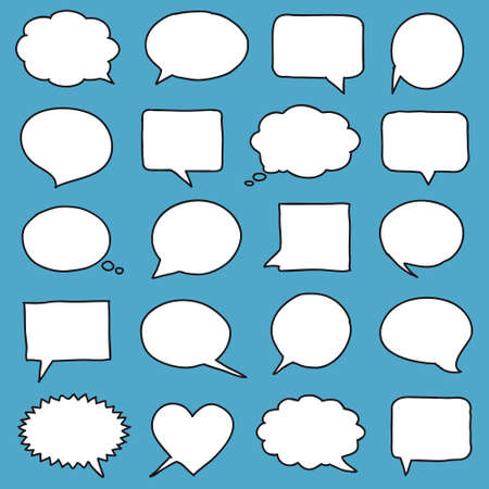 bubble background: Hand-drawn speech bubbles