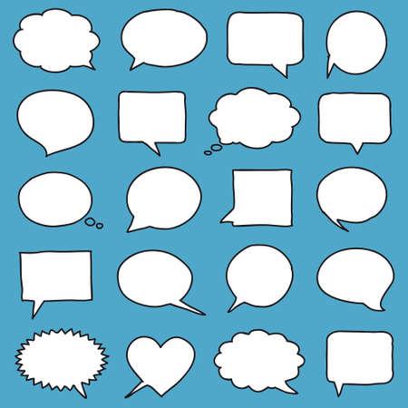 bubble speech: Hand-drawn speech bubbles