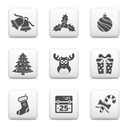 hollyberry: Christmas icons set Illustration