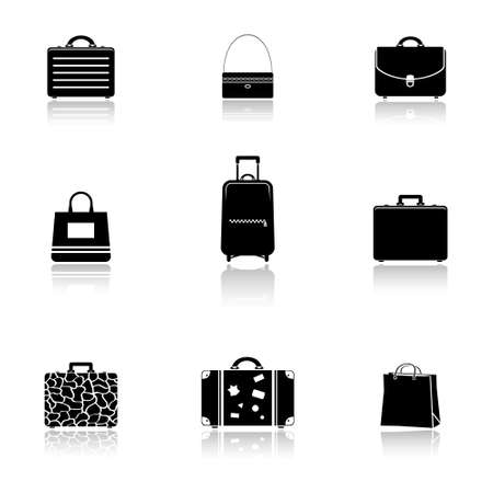 commercial painting: Bags and suitcases icons set