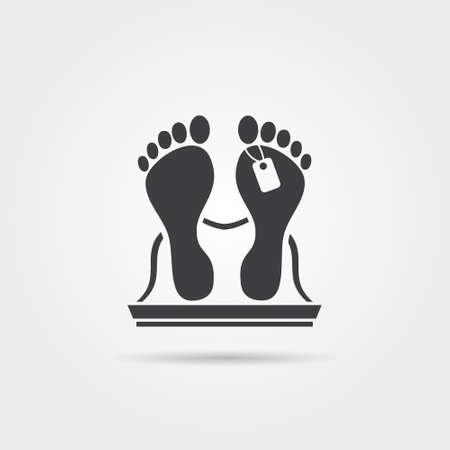 mortuary: Dead body icon Illustration