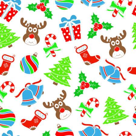 Christmas seamless pattern Illusztráció
