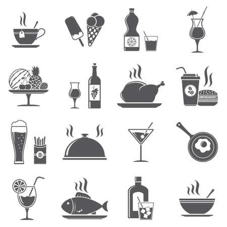 飲み物と食べ物のアイコン