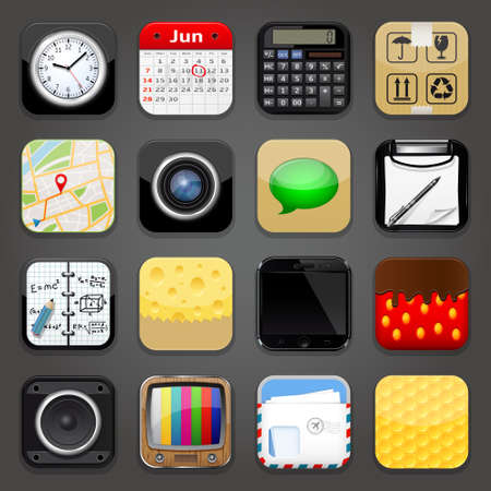 mobile application: Background for app icons