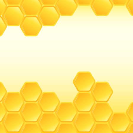 Honeycomb background. Vector Illustration Stock Illustratie