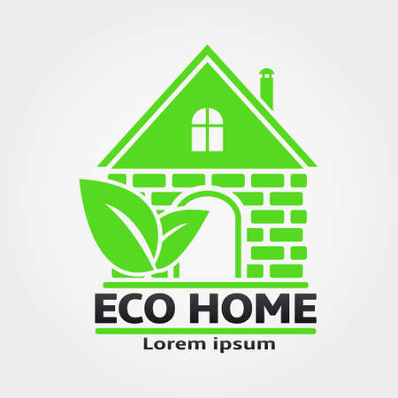eco home: Eco Home Vector