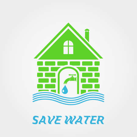 eco notice: Save water Illustration