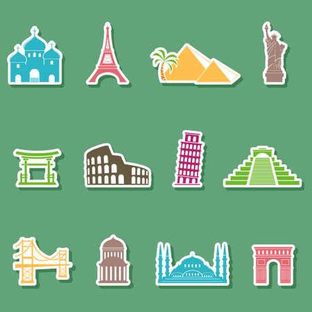 sights: World sights icons