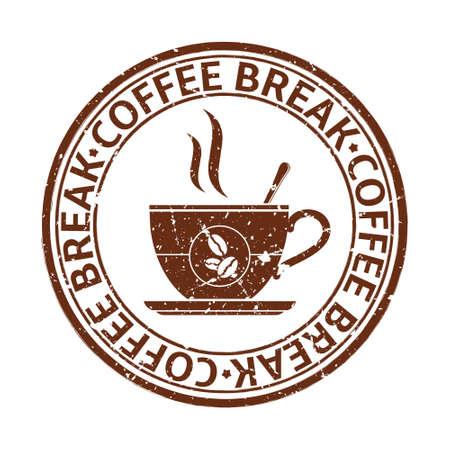 break: Coffee break grunge stamp