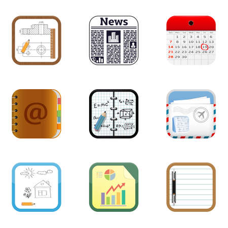 university application: Documents apps icons
