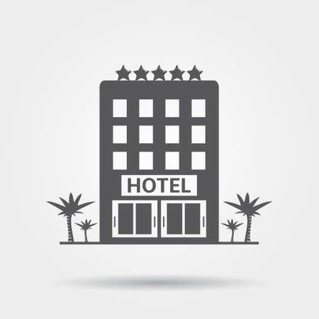 ホテル アイコン  イラスト・ベクター素材