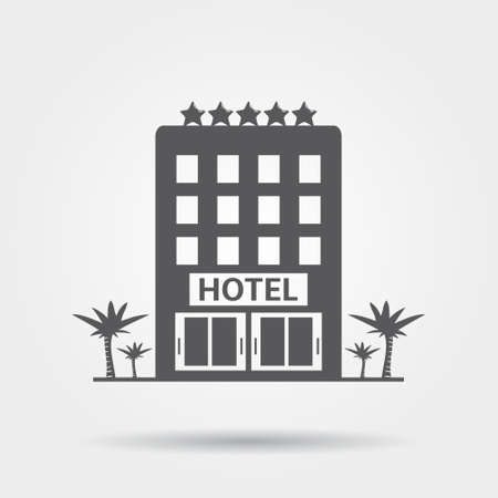 Hôtel icône Banque d'images - 42886652