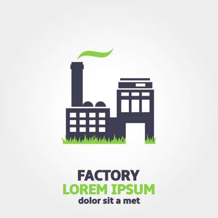 distillery: Eco factory icon Illustration