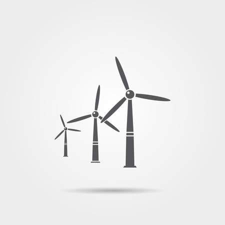 windmills: Windmills icon Illustration